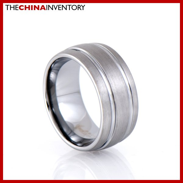 10MM SIZE 13 TUNGSTEN CARBIDE DOUBLE GROOVE RING R1701
