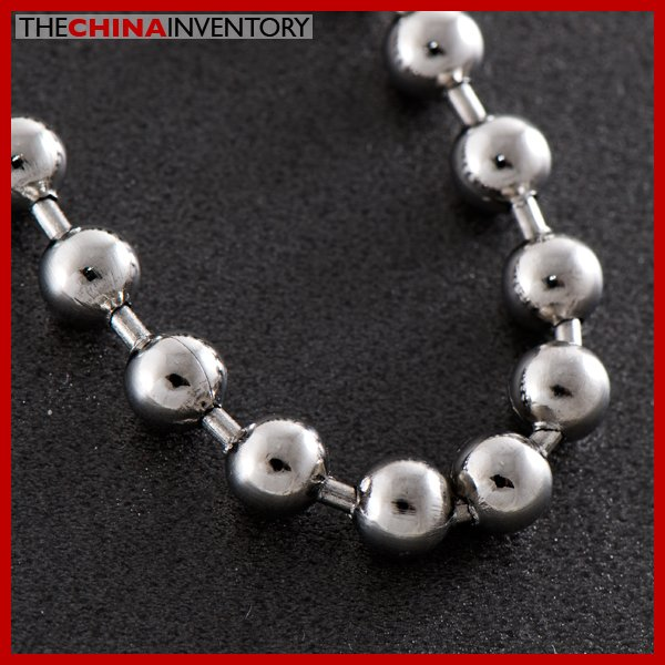 """8MM 24""""""""STAINLESS STEEL LARGE BALL CHAIN NECKLACE N0510C"""