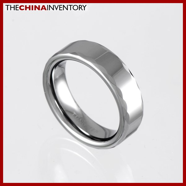6MM SIZE 5 FACETED TUNGSTEN CARBIDE BAND RING R0916B