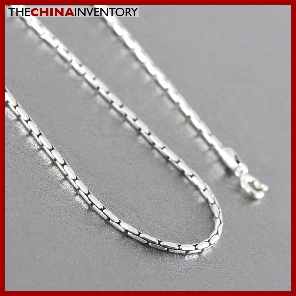 "2MM 20"""" 925 STERLING SILVER BAMBOO NECKLACE SIL0901B"