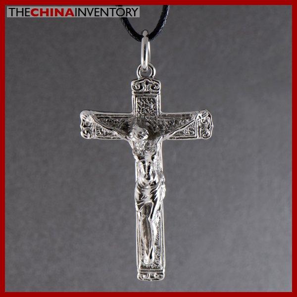 STAINLESS STEEL JESUS CROSS PENDANT NECKLACE P0820