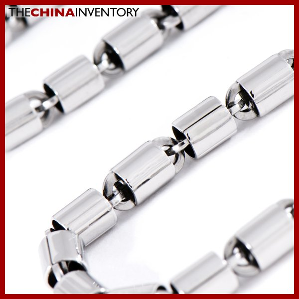 "24"""" 5MM STAINLESS STEEL CYLINDER NECKLACE N0811"