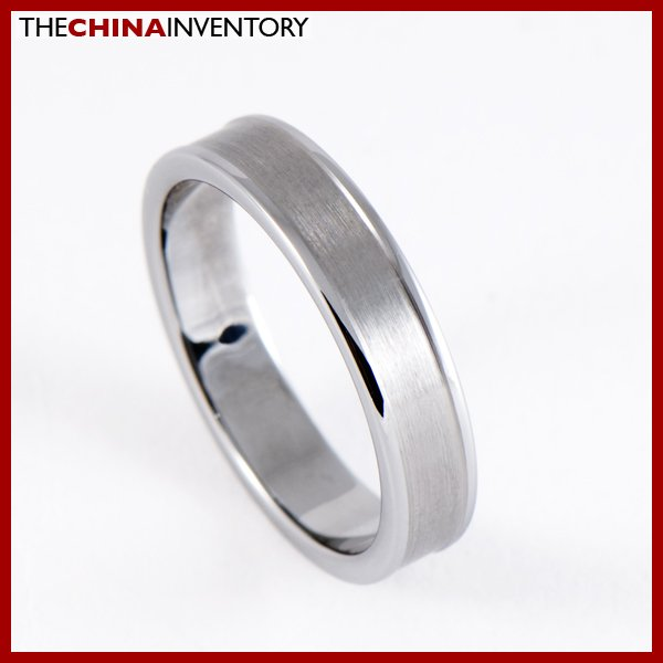 4MM SIZE 5 BRUSHED TUNGNSTEN CARBIDE BAND RING R0809