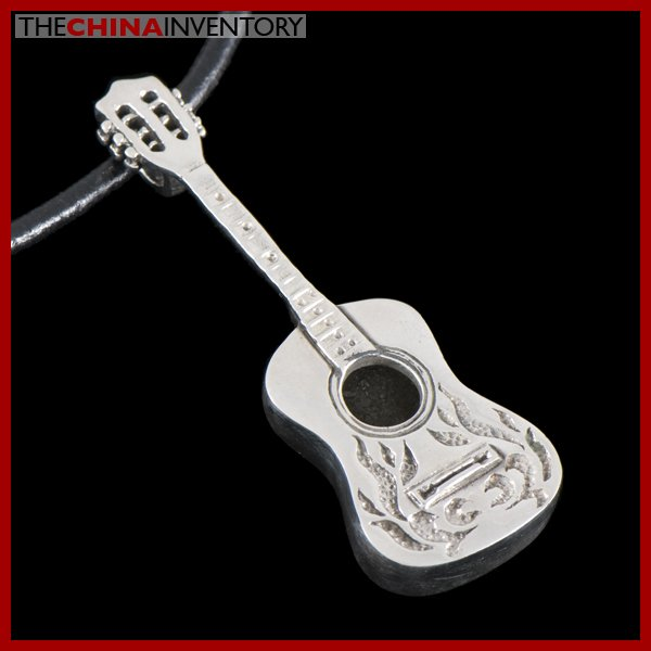 NEW 925 STERLING SILVER ACOUSTIC GUITAR PENDANT SIL0515