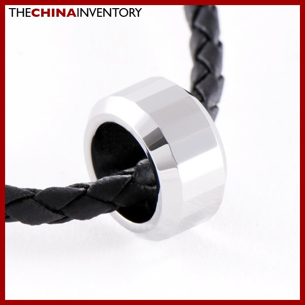 TUNGSTEN CARBIDE POLISHED & FACETED RING PENDANT P0903