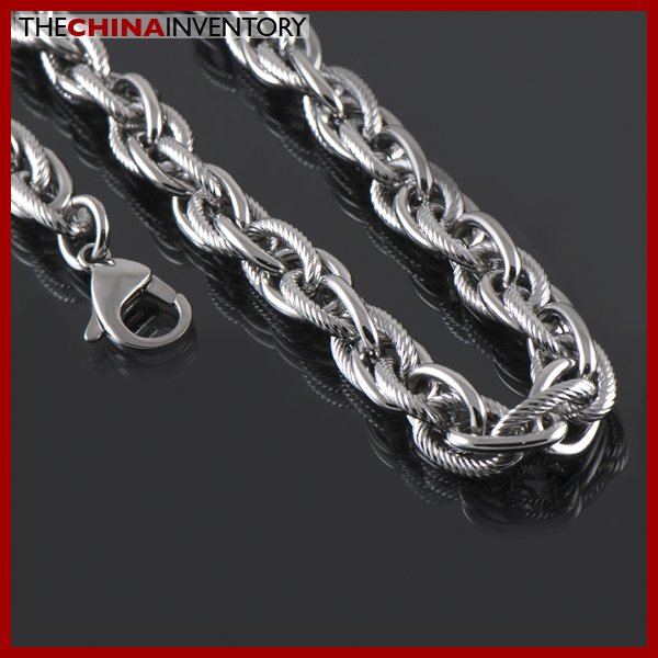 "24"""" STAINLESS STEEL TRIPLE LINK CHAIN NECKLACE N1501"