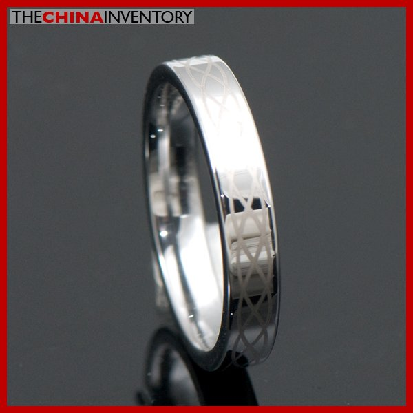 4MM SIZE10 TUNGSTEN CARBIDE WEDDING BAND RING R4009