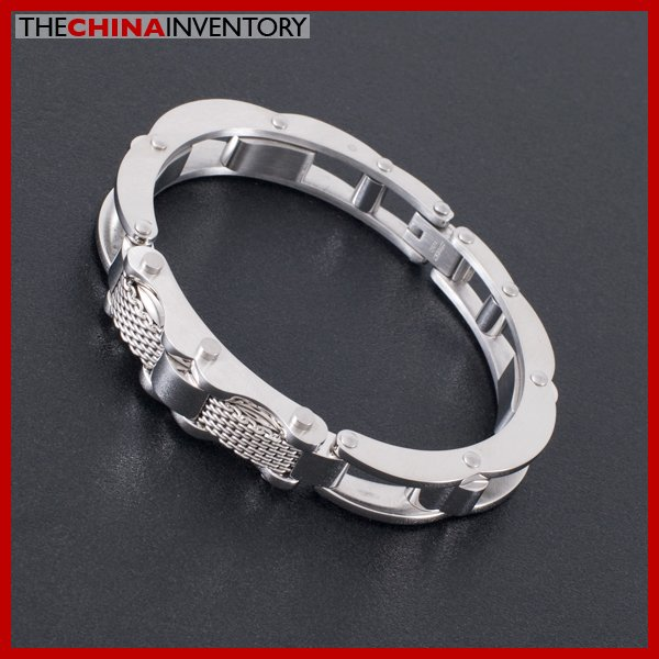 """6"""""""" STAINLESS STEEL CABLE CUFF BANGLE BRACELET B1622"""