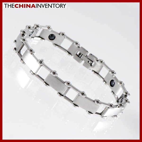 """8 1/4"""""""" STAINLESS STEEL HEALTH THERAPY BRACELET B1104"""