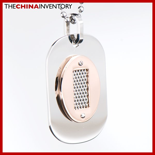 NEW MEN'S STAINLESS STEEL DOG TAG PENDANT P1613