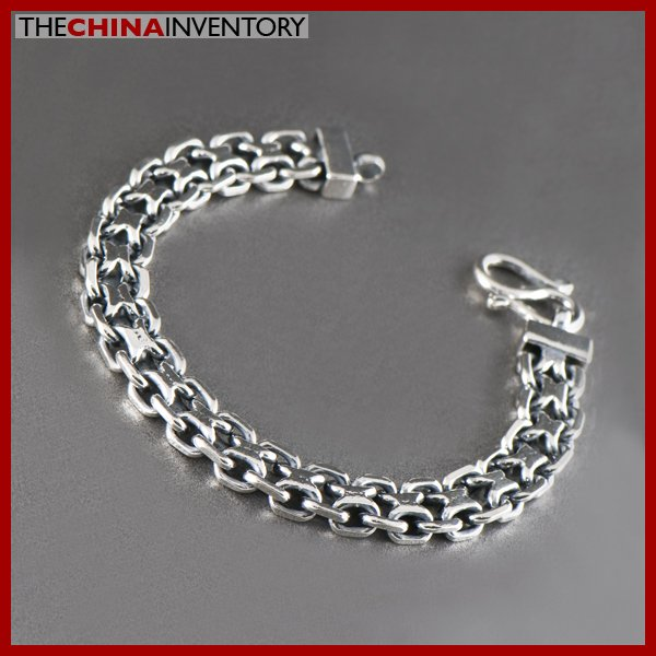 "16MM 9"""" 925 STERLING SILVER DUAL CHAIN BRACELET SIL1305"