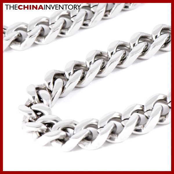 "20"""" HEAVY STAINLESS STEEL CURB CHAIN NECKLACE N0810"