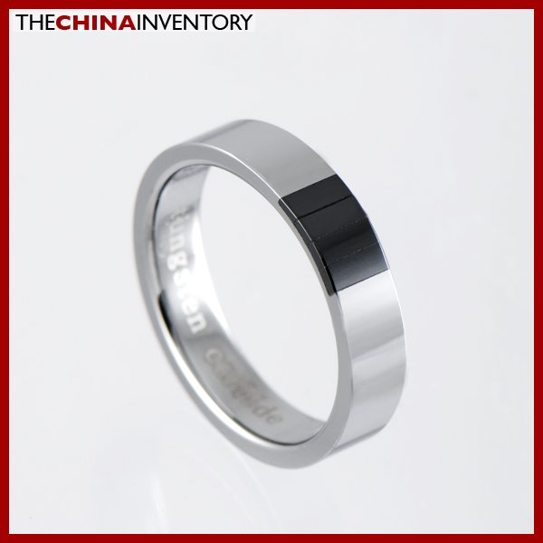 4MM SIZE 5 TUNGSTEN CARBIDE CERAMIC BAND RING R1003A