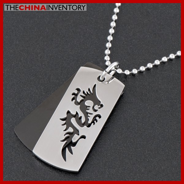 STAINLESS STEEL DUAL LAYER DOG TAG PENDANT P1803