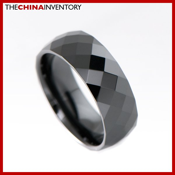 8MM SIZE 7 BLACK CERAMIC WEDDING BAND RING R1909