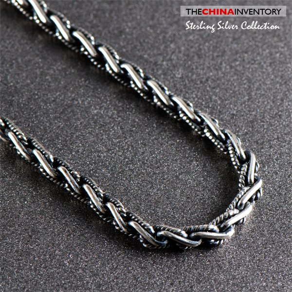 "3MM 18"""" 925 STERLING SILVER ROPE NECKLACE SIL0904A"