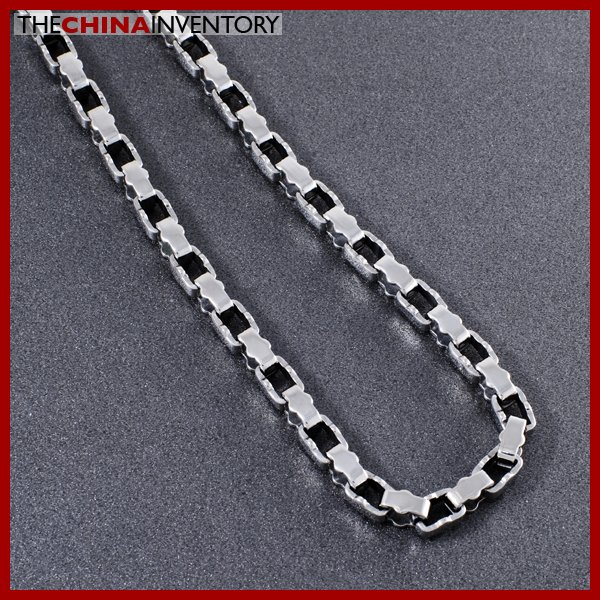 "24"""" STAINLESS STEEL DESIGNER BOX CHAIN NECKLACE N0504"