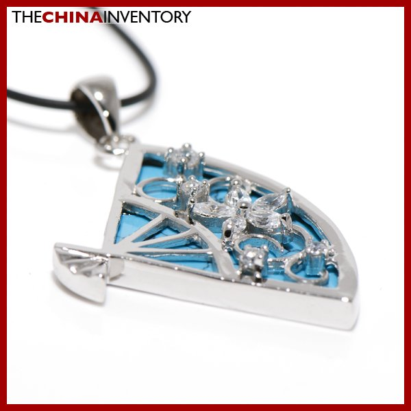 925 STERLING SILVER IMITATE TURQUOISE NECKLACE SIL1109
