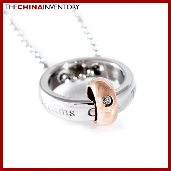 STAINLESS STEEL GOLD & SILVER RINGS PENDANT P1113