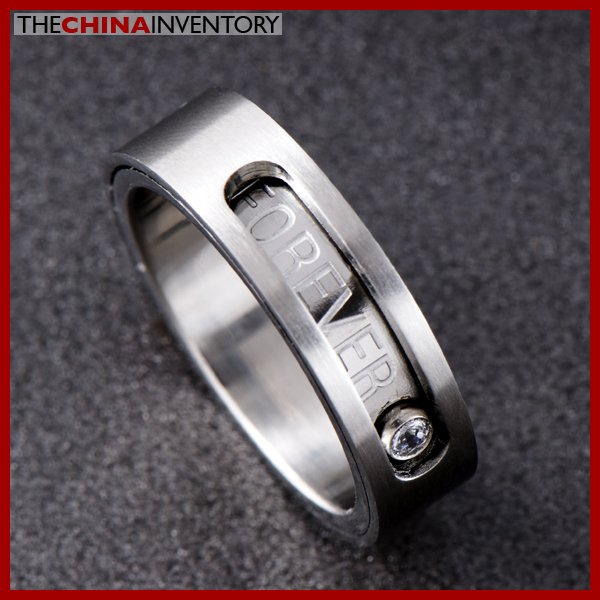 SIZE 6 STAINLESS STEEL LOVE BAND RING R0704B