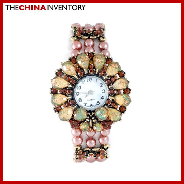 WOMEN'S IMITATE CRYSTAL PEARL BRACELET WATCH W0140B