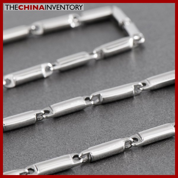 55CM 4MM STAINLESS STEEL BAMBOO LINKS NECKLACE N0716