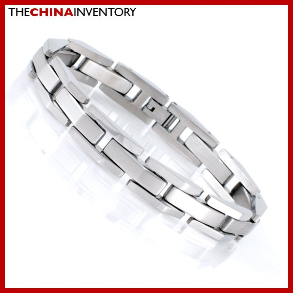 "8 1/2"""" BRUSHED STAINLESS STEEL WATCHBAND BRACELET B1804"