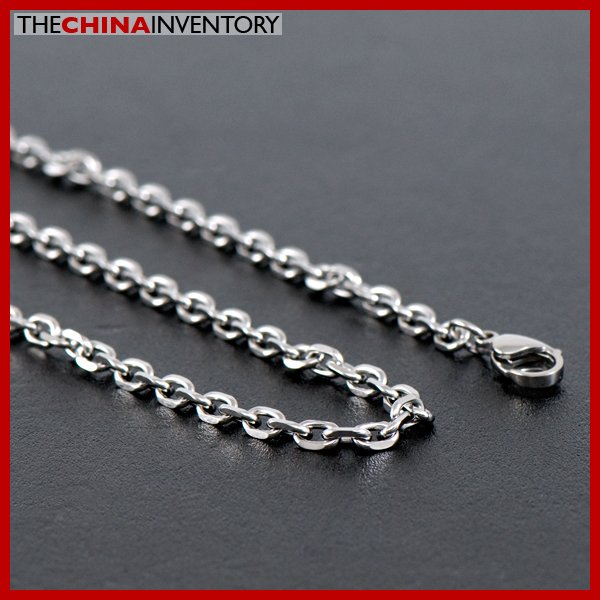 """3MM 20"""""""" STAINLESS STEEL CABLE CHAIN NECKLACE N1310"""
