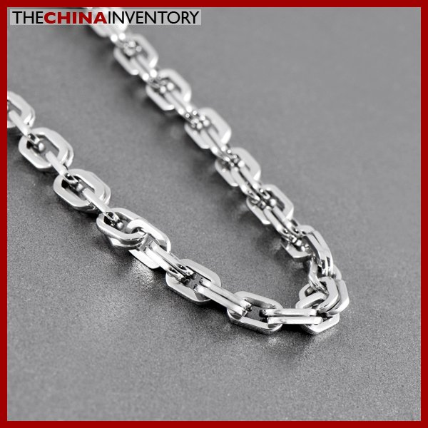 """22"""""""" STAINLESS STEEL DOUBLE OVAL LINKS NECKLACE N1021"""