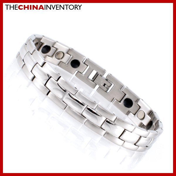 "11MM 8"""" STAINLESS STEEL HEALTH WATCHBAND BRACELET B1732"