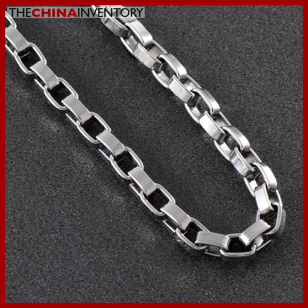 "5MM 22"""" STAINLESS STEEL LONG BOX CHAIN NECKLACE N0512"