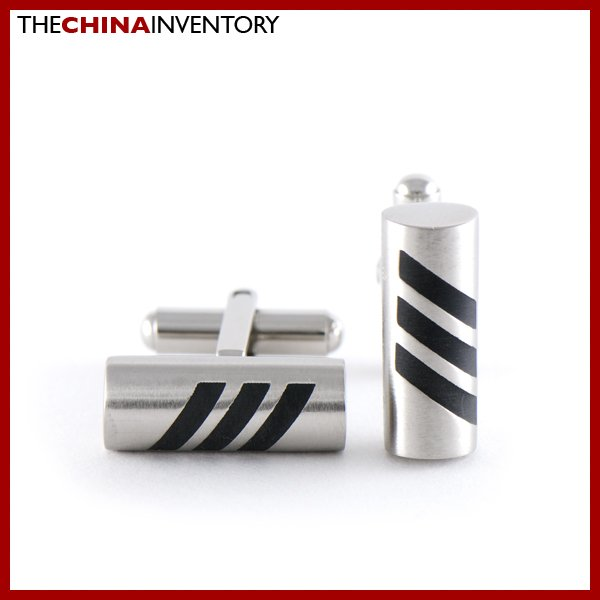 STAINLESS STEEL CYLINDRICAL CUFFLINKS CUFF LINKS C0106