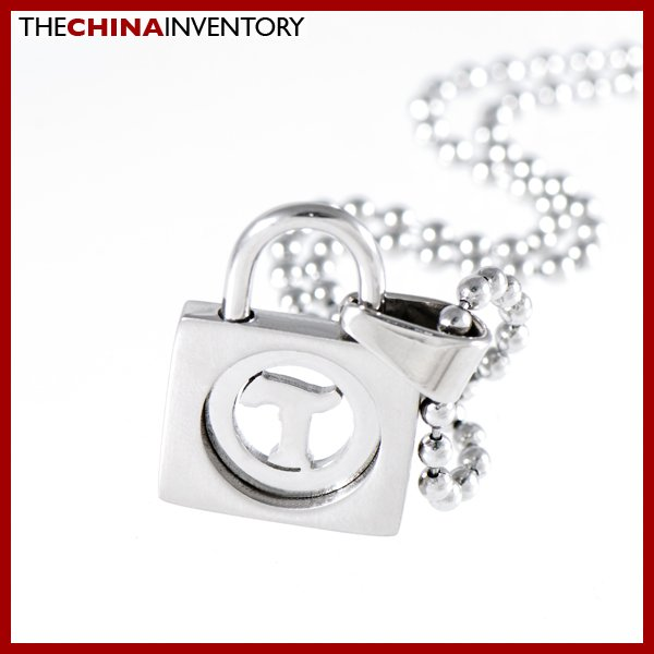 STAINLESS STEEL LOCK SHAPE PENDANT NECKLACE P1109