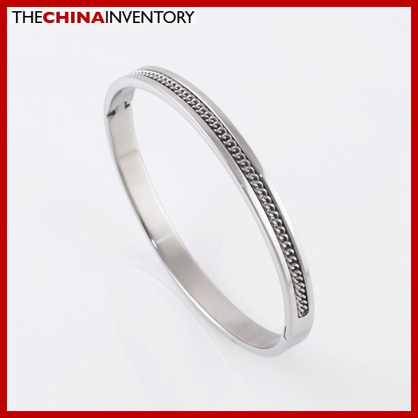 WOMEN'S 6MM STAINLESS STEEL CUFF BANGLE BRACELET B2104B