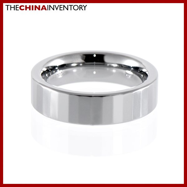 6MM SIZE 7.5 FACETED TUNGSTEN CARBIDE BAND RING R1201