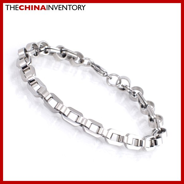 """9"""""""" STAINLESS STEEL DOUBLE RING CHAIN BRACELET B1902"""
