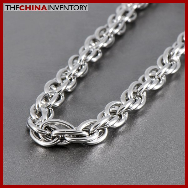 "21"""" STAINLESS STEEL TRIPLE LOOP NECKLACE N1007A"
