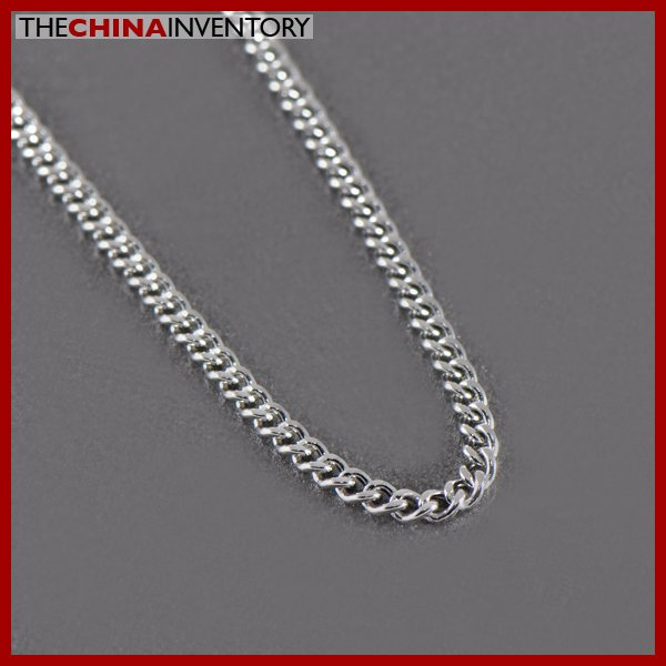 "2MM 18"""" STAINLESS STEEL CURB CHAIN NECKLACE N1302"