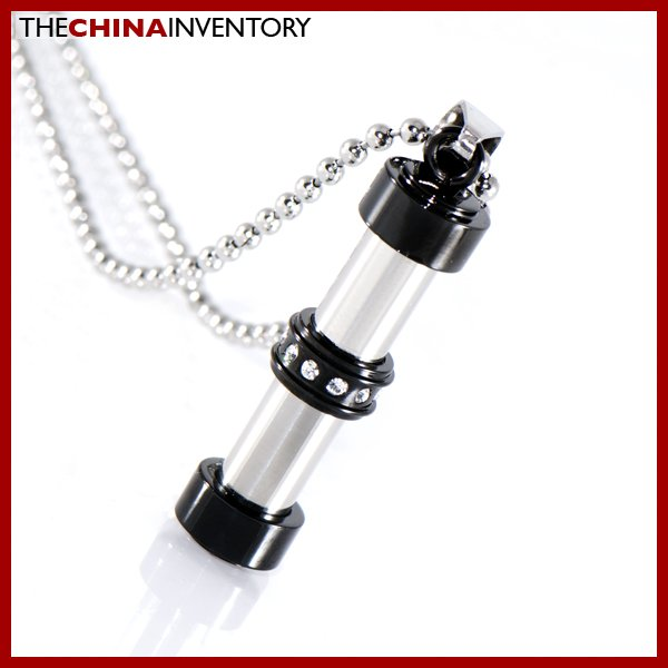 STAINLESS STEEL CZ TUBE PENDANT P1308