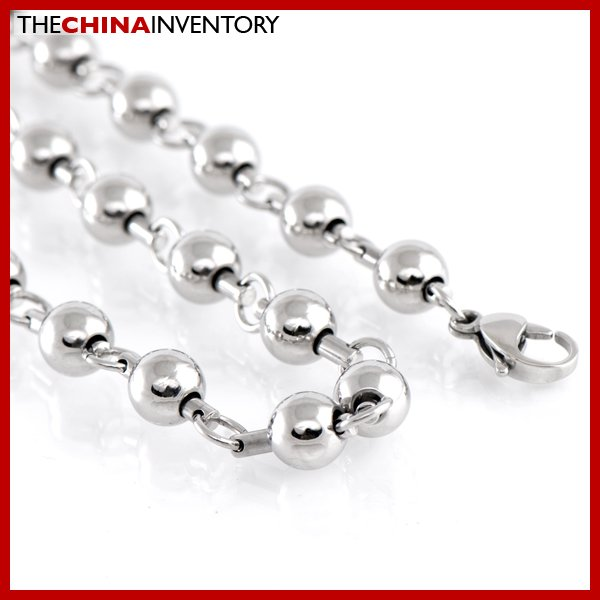 "8MM 22"""" STAINLESS STEEL LARGE BALL CHAIN NECKLACE N1808"