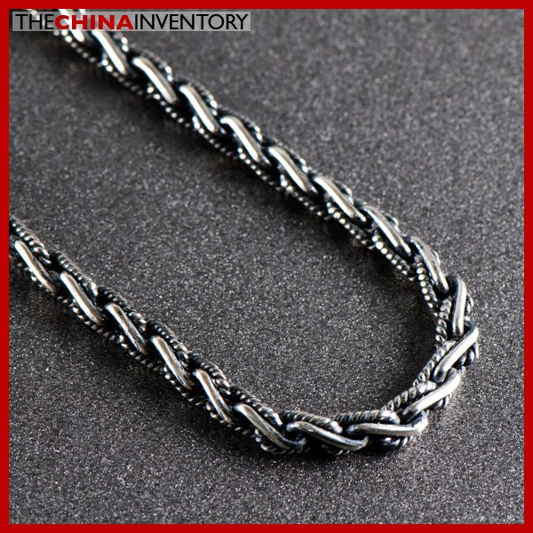 """MENS 4MM 20"""""""" 925 STERLING SILVER ROPE NECKLACE SIL0904B"""