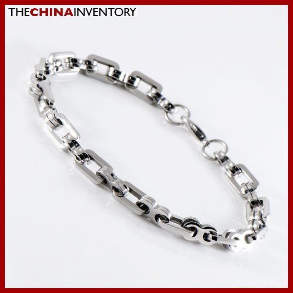 "9"""" STAINLESS STEEL DOUBLE RING LINK BRACELET B1222"