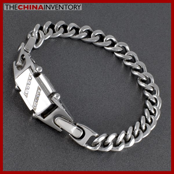 "9"""" STYLISH STAINLESS STEEL CURB / CHAIN BRACELET B0717C"