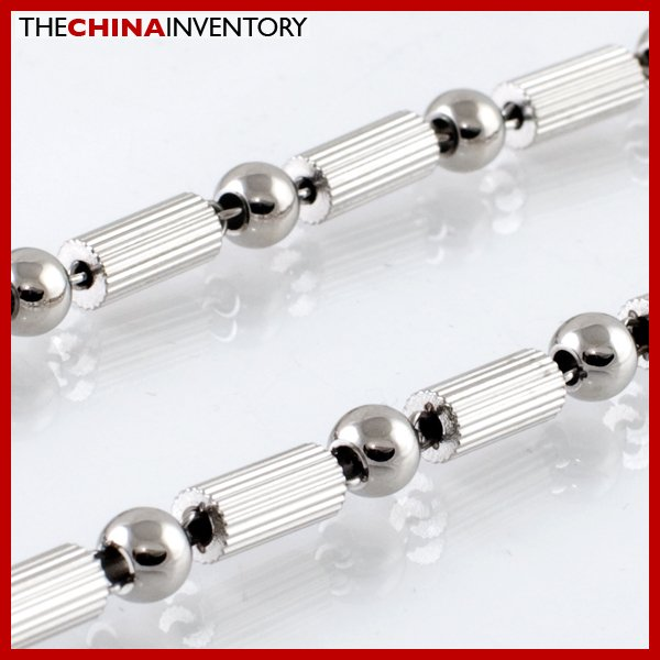 "22"""" 6MM STAINLESS STEEL BAMBOO BALL NECKLACE N2103"