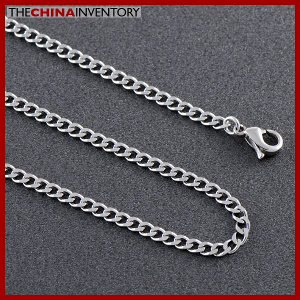 "20"""" STAINLESS STEEL CURB CHAIN NECKLACE N0713"
