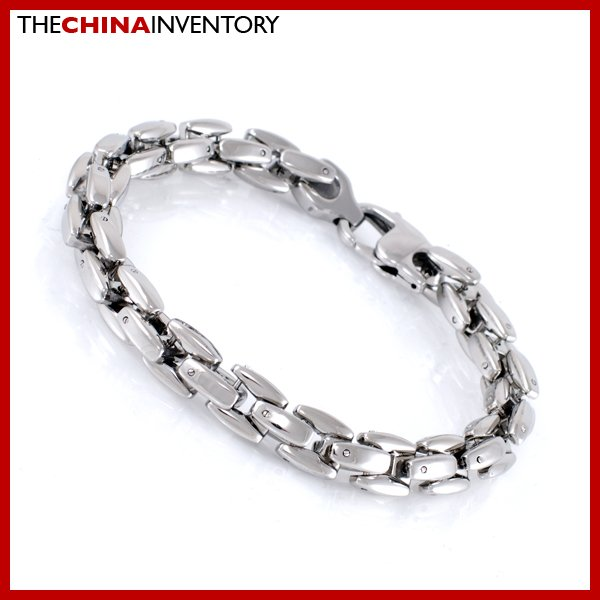"""9MM 8 1/2"""""""" STAINLESS STEEL 3D LINK CHAIN BEACELET B1715"""