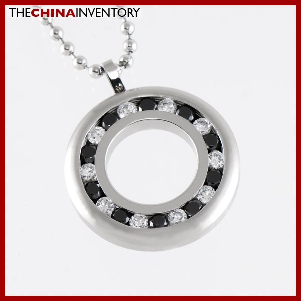 STAINLESS STEEL CZ RING PENDANT P1410