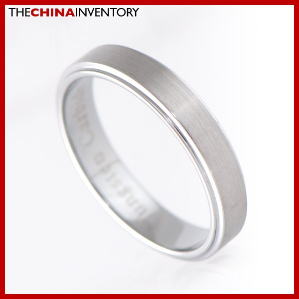 4MM SIZE 6.5 TUNGSTEN CARBIDE RING WEDDING BAND R1108B