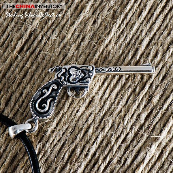 925 STERLING SILVER PISTOL GUN PENDANT SIL0363