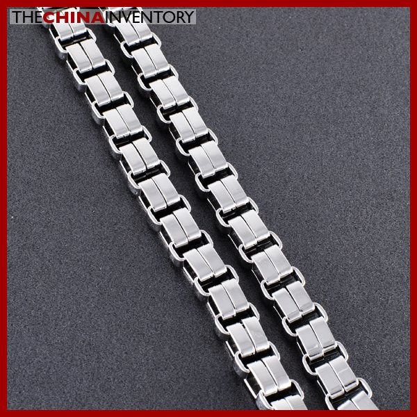 HEAVY DUTY STAINLESS STEEL DOUBLE CHAIN NECKLACE N0503